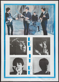 """Let It Be (United Artists, R-1981). Italian 2 - Foglio (39"""" X 55""""). Rock and Roll"""