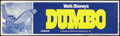 "Movie Posters:Animated, Dumbo (Buena Vista, R-1972). Banner (24"" X 82.25""). Animated.. ..."