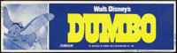"Dumbo (Buena Vista, R-1972). Banner (24"" X 82.25""). Animated"