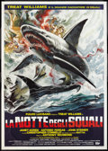 "Movie Posters:Adventure, Night of the Sharks (IIF, 1988). Italian 4 - Foglio (55"" X 78"").Adventure.. ..."