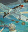 Mainstream Illustration, COURTNEY ALLEN (American, 1896-1969). Plane in Flight. Oilon canvas. 31 x 27 in.. Signed lower right. ...