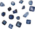 Estate Jewelry:Unmounted Gemstones, Lot of Unmounted Sapphires. ... (Total: 16 Items)