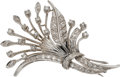 Estate Jewelry:Brooches - Pins, Diamond, White Gold Brooch, Birks. ...