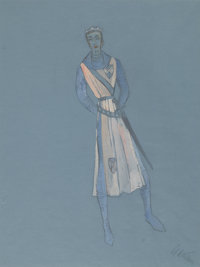 ADRIAN (ADRIAN GREENBERG) (American, 1903-1959) Camelot, Two Costume Designs for the Stage Production