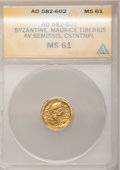Ancients:Byzantine, Ancients: Maurice Tiberius. 582-602. AV tremissis...