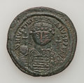 Ancients:Byzantine, Ancients: Justinian I. 527-565. AE follis...