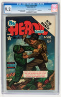 Golden Age (1938-1955):War, Heroic Comics #81 File Copy (Eastern Color, 1953) CGC NM- 9.2 Cream to off-white pages....