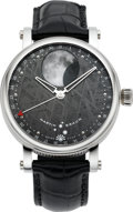 Timepieces:Wristwatch, Martin Braun Selene With Meteorite Dial, No. 020. ...