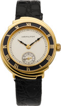 Timepieces:Wristwatch, Hamilton Limited Edition Gold Spur Wristwatch, circa 1992. ...