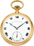 "Timepieces:Pocket (post 1900), Patek Philippe ""Extra Special"" Gold Pocket Watch With Diamond Endstone, circa 1912. ..."