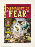 Original Comic Art:Miscellaneous, Marie Severin Signed Hand Colored Haunt of Fear #24 CoverPrint (1996)....