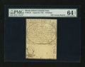 Colonial Notes:Rhode Island, 19th Century Reprint Rhode Island August 22, 1738 5s PMG ChoiceUncirculated 64 EPQ....