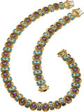 Estate Jewelry:Suites, Amethyst, Blue Topaz, Gold Jewelry Suite. ... (Total: 2 Items)