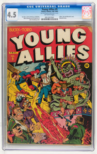 Young Allies Comics #9 (Timely, 1943) CGC VG+ 4.5 Off-white pages