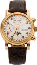 Timepieces:Wristwatch, Waldan International Rose Gold Chronometer Chronograph Calendar& Moon Phase Wristwatch With 24 Indication, circa 2004. ...