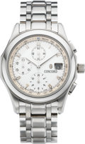 Timepieces:Wristwatch, Concord Steel Automatic Chronograph With Date, circa 2005. ...