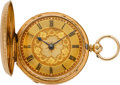 Timepieces:Pocket (pre 1900) , Rotherhams London Gold Fancy Dial Lever Fusee, circa 1850. ...