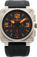 Timepieces:Wristwatch, Bell & Ross Limited Edition Titanium Aviation Type AutomaticChronograph, BR01-94-TO No. 258/500. ...