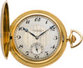 Timepieces:Pocket (post 1900), Girard Perregaux Gent's Gold & Enamel Hunters Case, circa 1910....