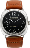 Timepieces:Wristwatch, Panerai OP 6644 Steel Radiomir Black Seal Wristwatch. ...