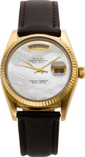 Timepieces:Wristwatch, Rolex Ref. 18000 Gent's Gold President With Mother-Of-Pearl Dial,circa 1980. ...