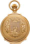Timepieces:Pocket (pre 1900) , Waltham Gold Box Hinge 18 Size Hunters Case, circa 1887. ...