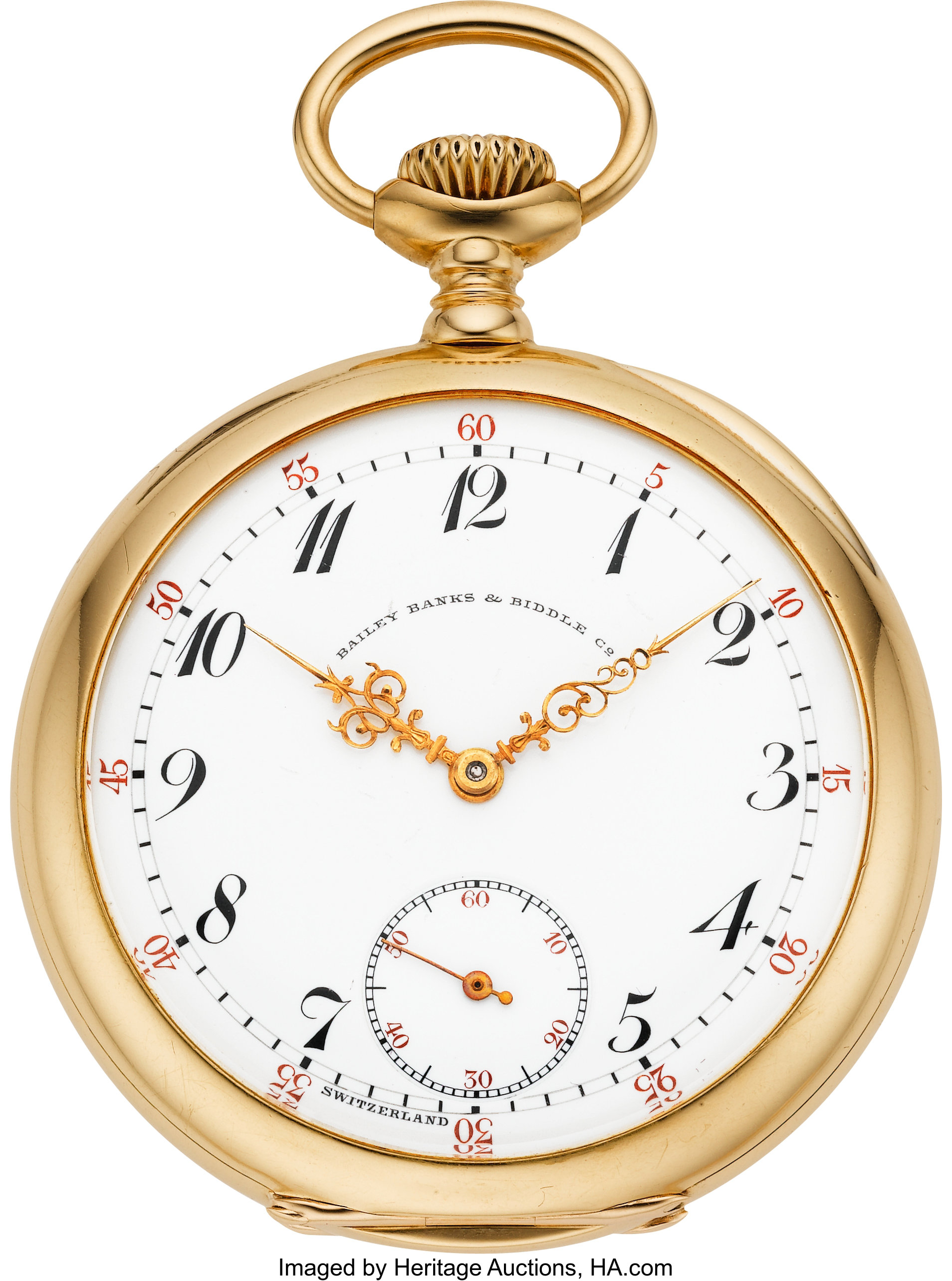 Patek Philippe Gold Pocket Watch Extra Special Grade For Bailey Lot 61063 Heritage Auctions