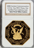"S.S.C.A. Relic Gold Medals, 2008 ""Humbert Commemorative"" Gem Proof Ultra Cameo NGC...."