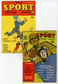 Golden Age (1938-1955):Non-Fiction, True Sport Picture Stories V3#4 and V4#10 Group (Street &Smith, 1945-48).... (Total: 2 Comic Books)