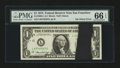 Error Notes:Ink Smears, Fr. 1908-L $1 1974 Federal Reserve Note. PMG Gem Uncirculated 66EPQ.. ...