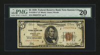Fr. 1850-J* $5 1929 Federal Reserve Bank Star Note. PMG Very Fine 20