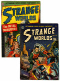 Golden Age (1938-1955):Science Fiction, Strange Worlds #8 and 19 Group (Avon, 1952-53).... (Total: 2 ComicBooks)