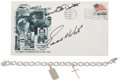 Transportation:Space Exploration, Gemini 4 Flown Cross and Crew-Signed Launch Cover Directly from the Personal Collection of Lola Morrow, Den Mother to the Earl...