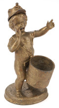 Antiques:Decorative Americana, Civil War Drummer Boy Match Holder. ...