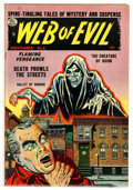 Golden Age (1938-1955):Horror, Web of Evil #8 (Quality, 1953) Condition: FN-....