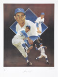 Baseball Collectibles:Others, Sandy Koufax Signed Lithograph....