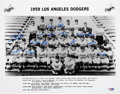 Baseball Collectibles:Photos, 1959 Los Angeles Dodgers Team Signed Photograph....
