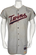 Baseball Collectibles:Uniforms, 1969 Rod Carew Game Worn Minnesota Twins Jersey....
