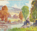 Paintings, PETER LANZ HOHNSTEDT (American, 1872-1957). Pair of Landscapes. Oil on board. 4-1/2 x 5-1/2 inches (11.4 x 14.0 cm). Eac... (Total: 2 Items)