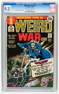 Weird War Tales #1 (DC, 1971) CGC NM- 9.2 Off-white to white pages