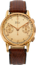 Timepieces:Wristwatch, Kelbert Red Skelton Gold Presentation Chronograph, circa 1950. ...