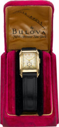 "Timepieces:Wristwatch, Bulova ""Rite-Angle"" Vintage Wristwatch With Original Box, circa1940. ..."