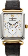 Timepieces:Wristwatch, Ulysse Nardin Michelangelo Two Tone Automatic With Power Indication & Date, circa 2000. ...