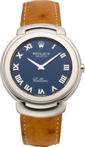 Timepieces:Wristwatch, Rolex Ref. 6623/9 Gent's White Gold Cellini, circa 1992. ...