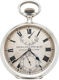 Timepieces:Pocket (post 1900), Patek Philippe Rare Keyless Lever Deck Watch With Power Reserve,Extra Quality Movement, circa 1911. ...