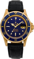 Timepieces:Wristwatch, Rolex Ref. 1680 Gent's Gold Submariner, circa 1978. ...