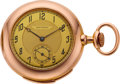 Timepieces:Pocket (post 1900), Girard Perregaux Gold Minute Repeating Pocket Watch, circa 1900....