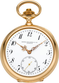 Patek Philippe & Cie Rare & Very Fine Gold Trip Minute Repeater, Two Train Tandem Wind Pocket Watch, circa 1904...