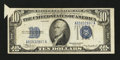 Error Notes:Attached Tabs, Fr. 1701 $10 1934 Silver Certificate. Very Fine.. ...
