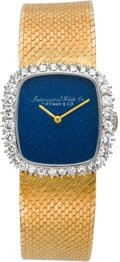 Timepieces:Wristwatch, Tiffany & Co. Lady's Diamond & Gold Watch By InternationalWatch Co., circa 1980's. ...